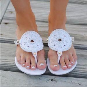 Jack Rogers Georgica White Jelly Sandals 9